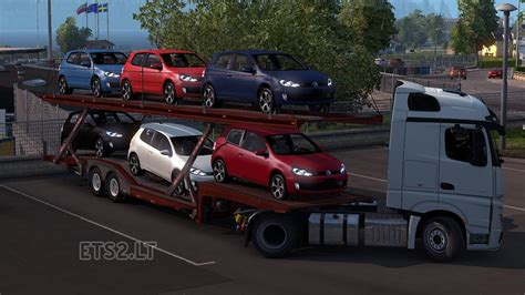 volkswagen cer trailer volkswagen golf gti car transport trailer ets 2 mods