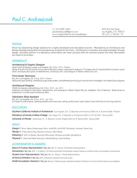 Pca Resume Resume For Pca
