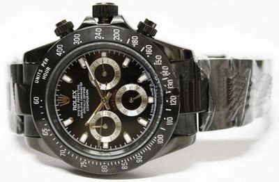 Jam Tangan Pria Cowok Rolex Daytona Kombinasi Plat Hitam Premium gudangjamshop rolex kw1