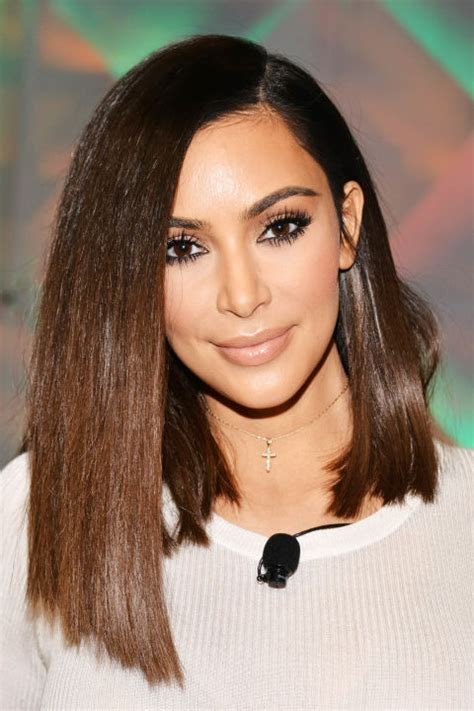 pictures best haircuts for long faces kim kardashian long face short 50 best kim kardashian hair looks kim kardashian s