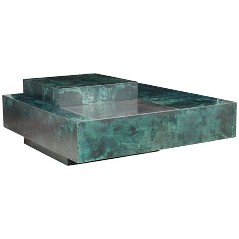 emerald green table l aldo tura emerald green goatskin coffee table and bar for