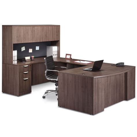 Front Office Desk by Step Front U Desk Closed Hutch Office Furniture Ez