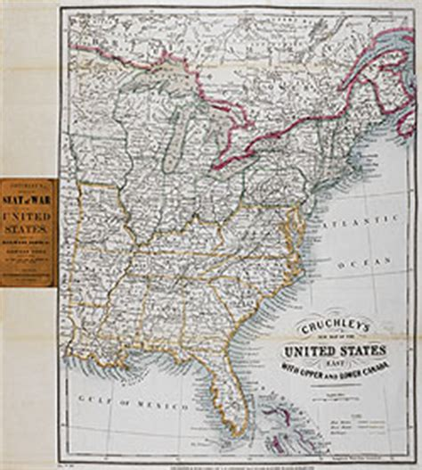 map of eastern united states and canada cruchley s new map of the united states east with