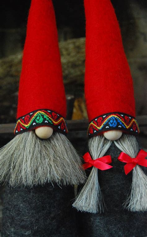 pattern for felt gnome hat mr and mrs gnome in all natural materials wool felt for