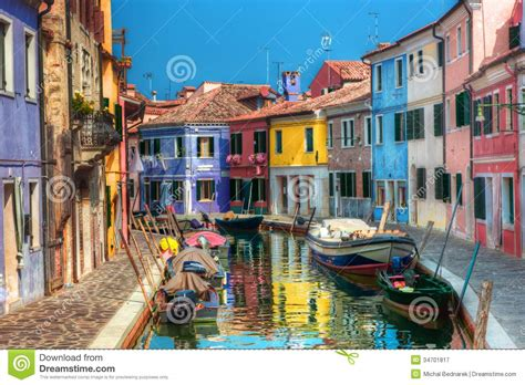 Colorfu Houses Painting bunte h 228 user und kanal auf burano insel nahe venedig
