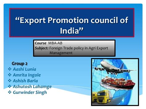 Mba In Import Export In India by Export Promotion Council Of India