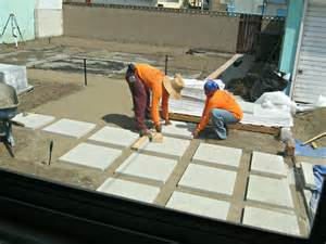 Adding Pavers To Concrete Patio How To Install 24 Quot Concrete Pavers Lynda Makara