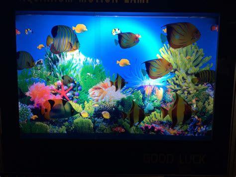 aquarium l fish mirror frame moving picture aquarium motion moving l night light rotating seabed