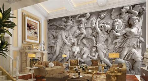3d wall murals 3d puzzle image 3d wallpaper greek roman statues art mural wall paper