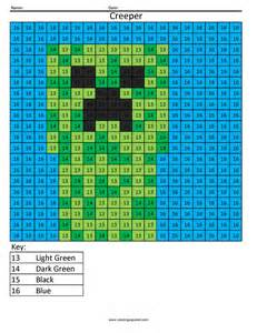 minecraft color by number free coloring pages of minecraft ogre