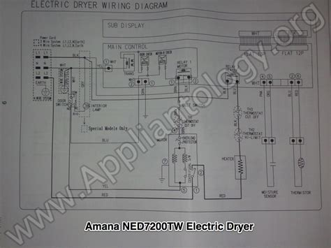 wiring diagram for samsung dryer amana ned7200tw samsung built electric dryer wiring