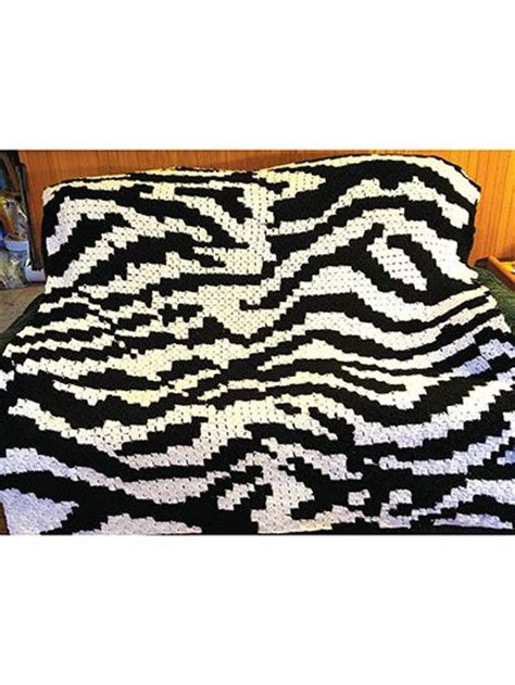 zebra pattern afghan corner to corner zebra afghan crochet pattern download