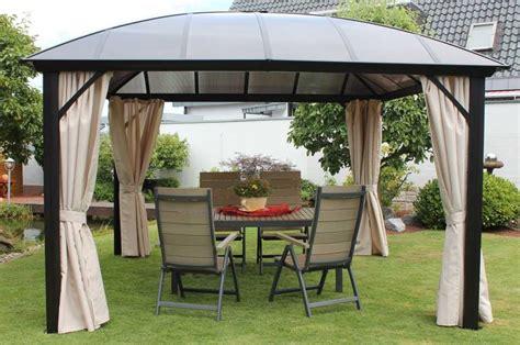 pavillon aluminium 4x4 gartenpavillon 3 65x3 65 m mit kuppeldach aus polycarbonat