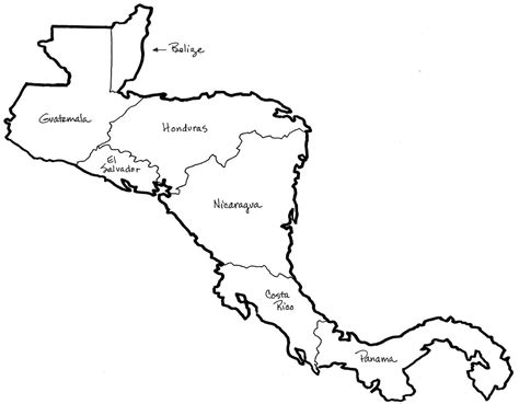 panama map coloring page central america map coloring social studies pinterest