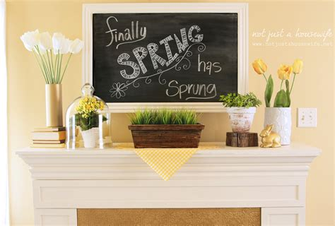 Decorate Fireplace by Spring Mantel Not Just A Housewife