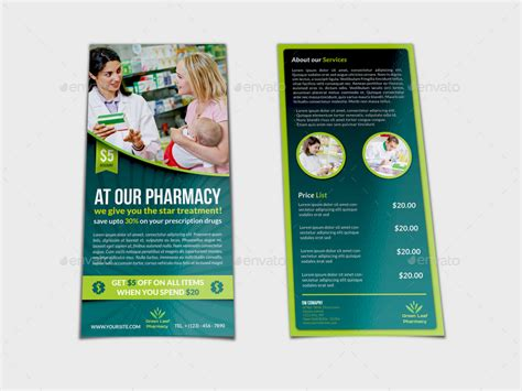 pharmacy brochure template free pharmacy flyer dl size template by owpictures graphicriver