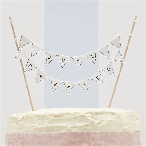 Wedding Cake Bunting by Just Married Wedding Cake Bunting By