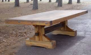 dining table rustic dining table trestle