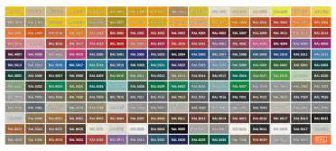 ral colors 187 patinas in accordance with ral color chart fabbrica