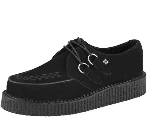 black suede low sole creeper t u k shoes t u k shoes