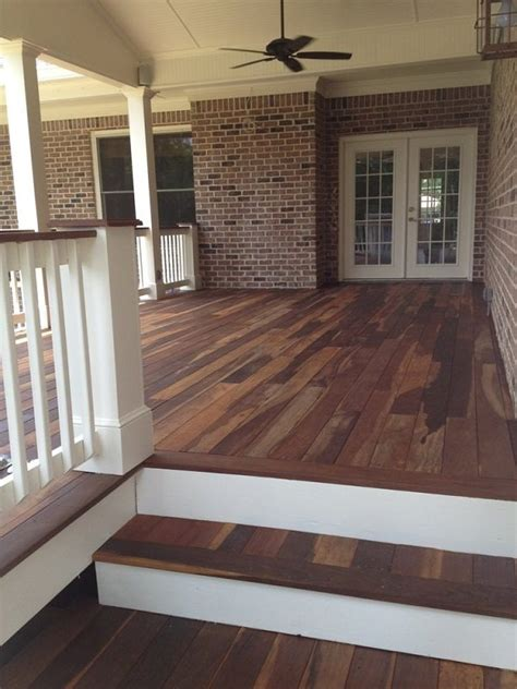 Best Wood For Porch Floor by Porch Flooring Ideas Materials Styles And Decor Of