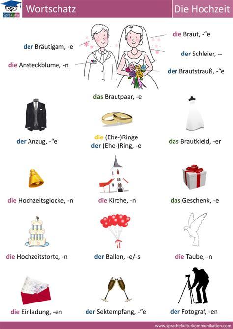 Wörter Hochzeit by Wortschatz Hochzeit Vocabulary Wedding N 233 Met