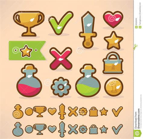 game design elements in vector from stock 2 game design stock vector image 62505049