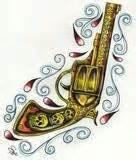 tattoo golden gun tattoo designs golden gun tattoo design
