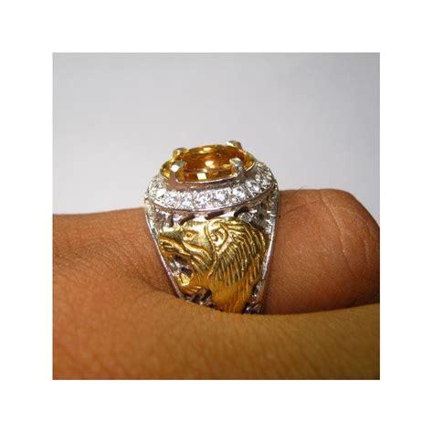 Cincin Permata Zircon 2 cincin pria ring 8us bahan silver 925 dan yellow
