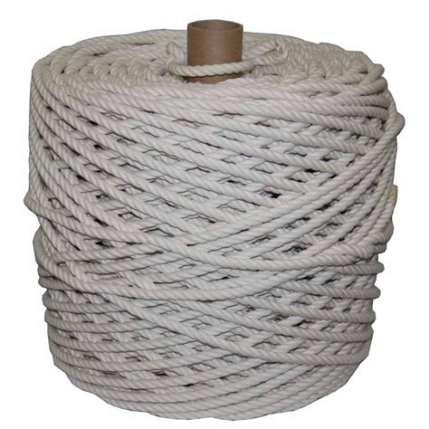 t w cordage 5 32 in x 1500 ft twisted cotton rope