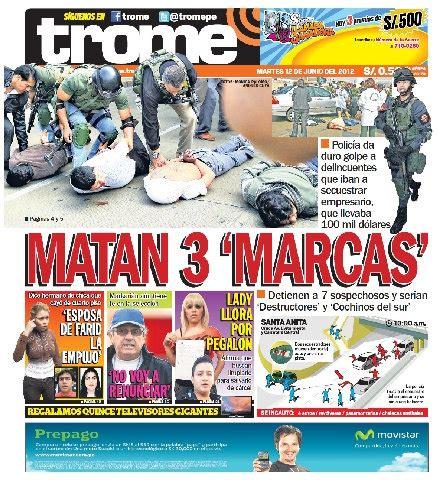 el trome diario peruano una mirada a las portadas de 20 diarios populares clases