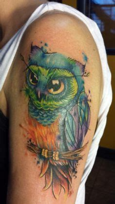 watercolor tattoos ohio best 25 watercolor owl tattoos ideas on