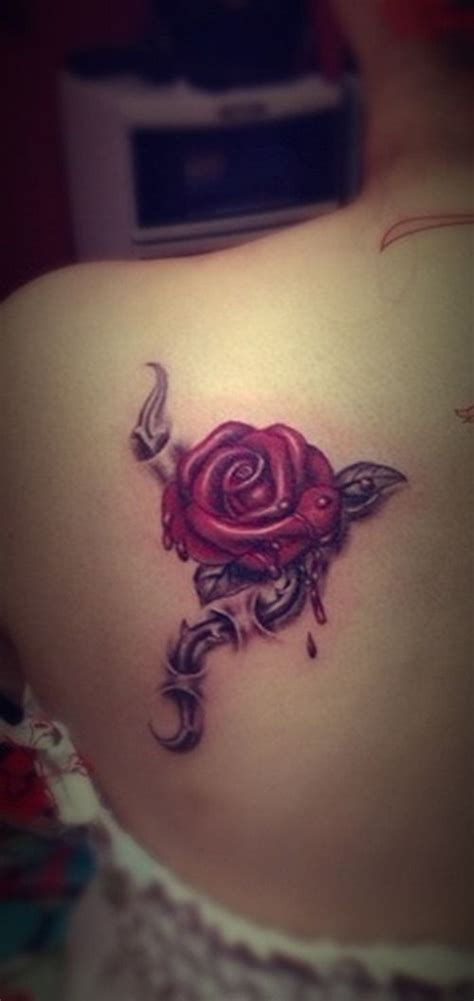 girl rose tattoos tattoos on shoulder www pixshark images