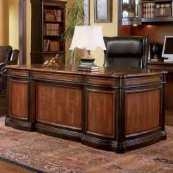 Executive Desks For Home Office Home Office Executive Desk Two Tone Warm Brown Finish Traditional Desks And Hutches By