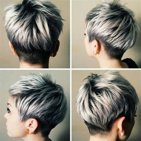haircuts for thick gray hair 20 trendy gray hairstyles gray hair trend balayage