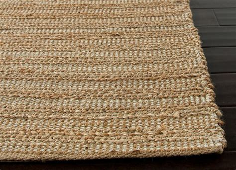 Cotton Area Rugs Himalaya Collection Jute And Cotton Area Rug In Driftwood