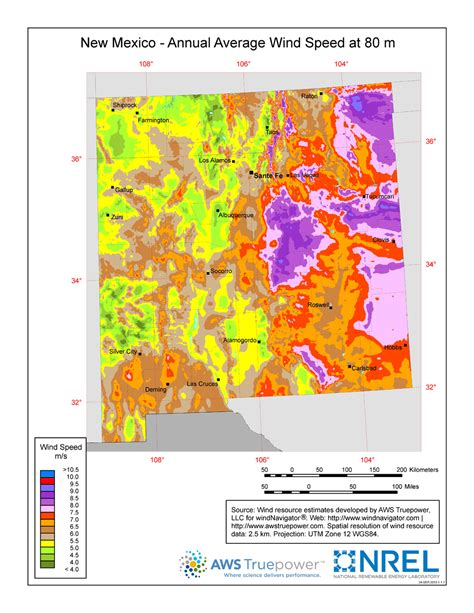 resource map of mexico windexchange new mexico 80 meter wind resource map