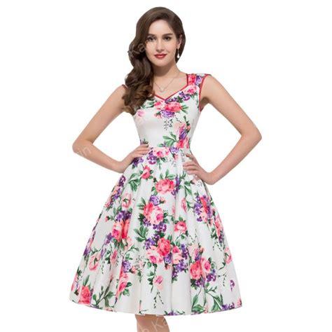 Id Flower Print Dress summer style sleeveless casual flower pattern floral