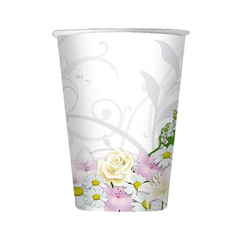 bicchieri bianchi bicchieri bianchi floreali 10 pz idealball