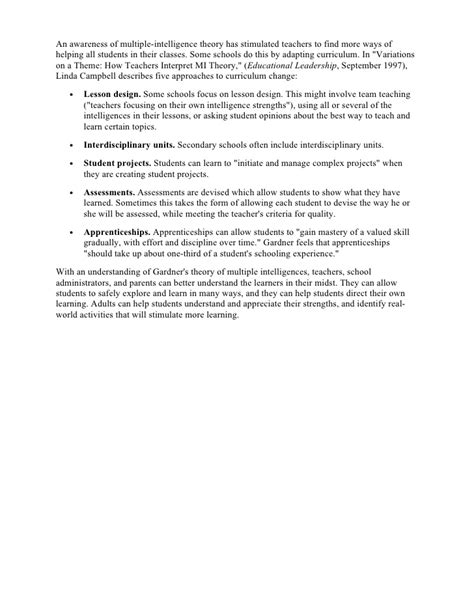 intelligences lesson plan template intelligence lesson plan template