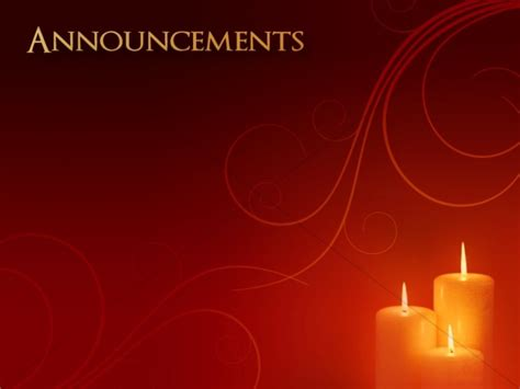 christmas carol announcement background church announcements