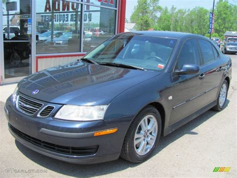 2005 nocturne blue metallic saab 9 3 linear sport sedan
