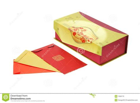 new year box new year packets and gift box stock photo