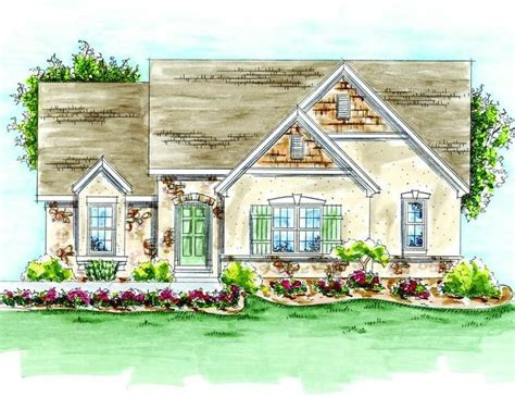 french country cottage house plans houseplan 402 01373 1789 2bd greatroom pocket office