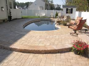 Concrete Paver Patio 3 Foot Concrete With Paver Border