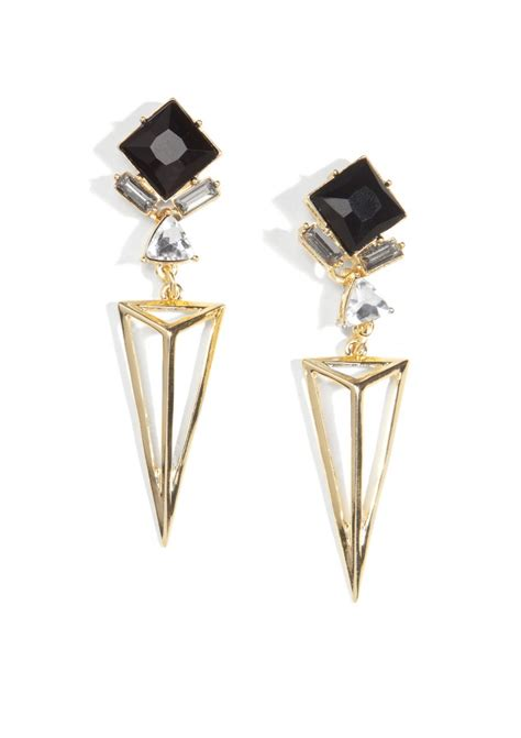 black and gold drop earrings happiness boutique