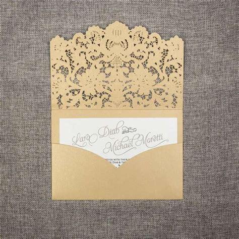 mayoreo de invitaciones invitaciones de boda venta invitaciones al por mayor invitaciones de elegante oro corte l 225 ser bolsillo mayoreo tarjetas de la boda wpl0011 wpl0011 1 10
