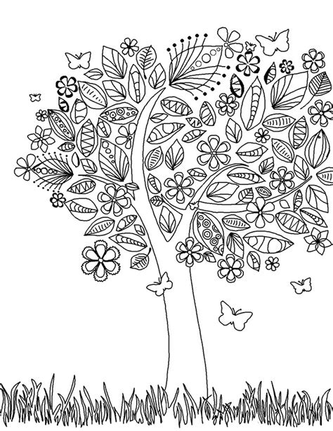 Printable Coloring Pages For Adults 15 Free Designs Detailed Tree Coloring Pages