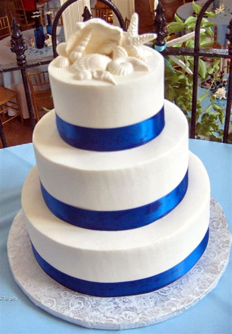 Blue Ribbon Cake Decorating by Just Desserts Outer Banks Wedding Cakes Just Desserts Cake Gallery Blue Ribbon And Shells Jpg