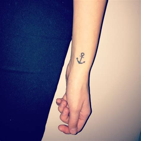small tattoo anchor small anchor on wrist